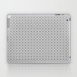 Quatrefoil Grey Laptop & iPad Skin