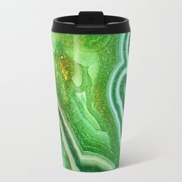 Green marble Travel Mug