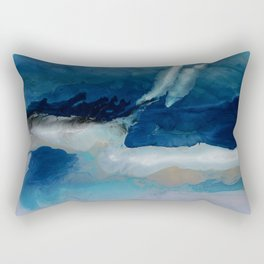 DEEP - Ocean art Resin painting, abstract seascape, coastal painting Rectangular Pillow