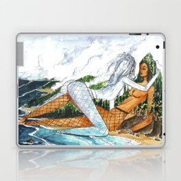 PNW Fishnets - Earth and Sky Goddess Kiss Painting Laptop & iPad Skin