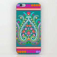 folk turquoise damask iPhone & iPod Skin