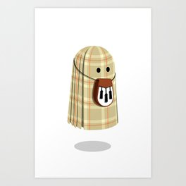 Plaid ghost Art Print