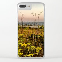 Blooms in the Salt Flats in Big Sur Clear iPhone Case