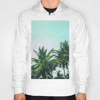 palm trees Hoodies featuring Palm Trees by Sweet Karalina