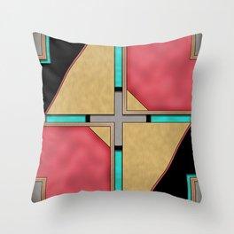 Quad - Geometric Art Deco Design Throw Pillow