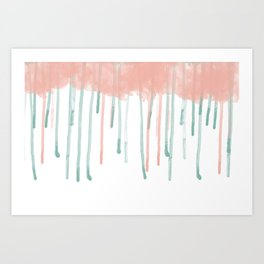Watercolour rain Art Print