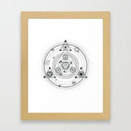 Sacred geometry and geometric alchemy design Framed Art Print