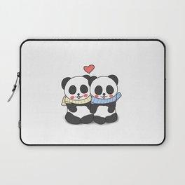 Panda Love Couple in Winter Laptop Sleeve