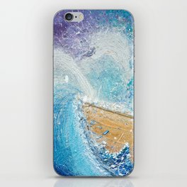 The Ark - Faith through turbulent times - Hold on perfect storm - artwork of surrender and hope iPhone Skin