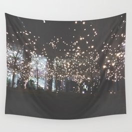 Night Lights-Stars in the Trees Wall Tapestry