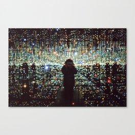 Self Portrait in Yayoi Kusama's Infinity Room Canvas Print