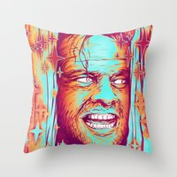 the shining Throw Pillows featuring Shining by Retkikosmos