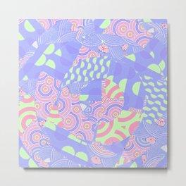Berry Blue Sorbet Metal Print