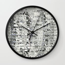 The Eternal Return of the Unique Event (P/D3 Glitch Collage Studies) Wall Clock