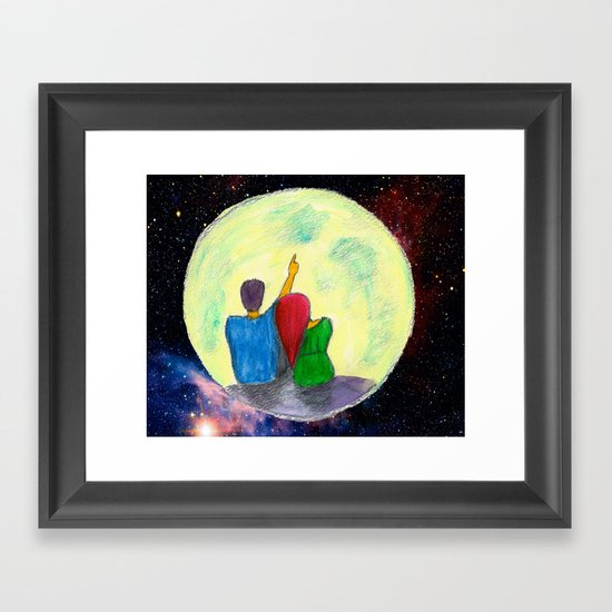 One day, I will take you there...  Framed Art Print
