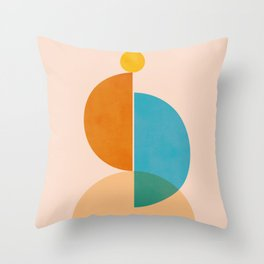 Abstraction_SUN_Rising_Minimalism_001 Throw Pillow