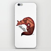 red riding hood iPhone & iPod Skins featuring Little Red Riding Hood by olivier silven