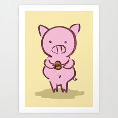 Piggies Love To Eat Art Print