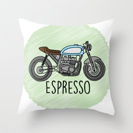 Espresso - Cafe Racer Throw Pillow