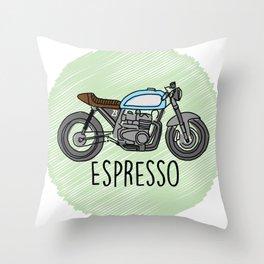 Espresso - Cafe Racer Throw Pillow