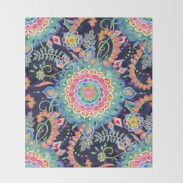 Color Celebration Mandala Throw Blanket