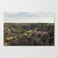 palo alto Canvas Prints featuring Palo Duro Canyon Landscape by Will Milne