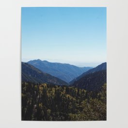 Blue Sky over Mountains in California Poster