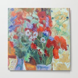 Pierre Bonnard Bouquet of Poppies Metal Print