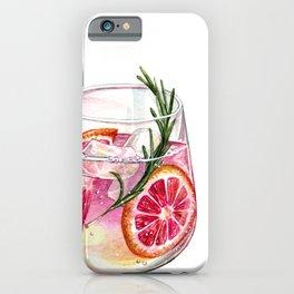 Grapefruit Gin & Tonic iPhone Case