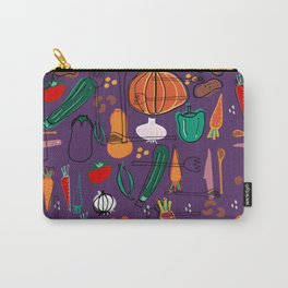 fall veggies purple Carry-All Pouch