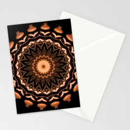 Copper and Black Kaleidoscope Pattern #1 Stationery Cards