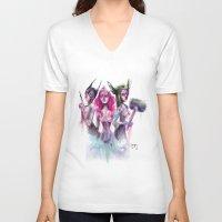 hero V-neck T-shirts featuring Hero by Saje Gary