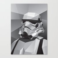 stormtrooper Canvas Prints featuring Stormtrooper by Filip Peraić