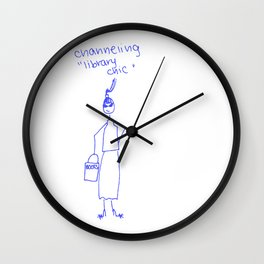 Channeling Library Chic Wall Clock
