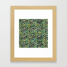 Gold and Marble Suits Pattern Digital Art Framed Art Print