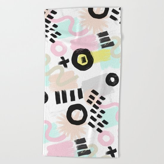 Ink Perception 003 Beach Towel