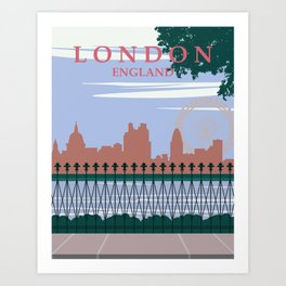 London Vintage Poster Art Print