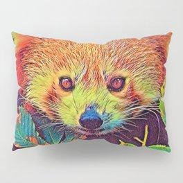 AnimalColor_RedPanda_001_by_JAMColors Pillow Sham