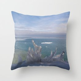 Cave Point Icicle Tree Throw Pillow