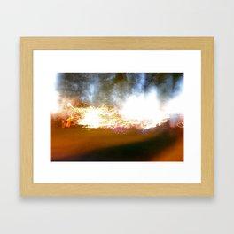 accidental light Framed Art Print