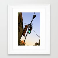 cosima Framed Art Prints featuring Green Means GO by Cosima Higham