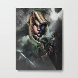 Legend of Zelda Link the Epic Hylian Metal Print
