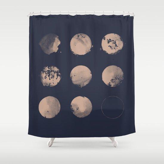 Douze Lunes Shower Curtain