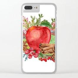 Apple Bouquet Clear iPhone Case