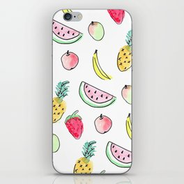 tutti fruitti watercolour pattern iPhone Skin