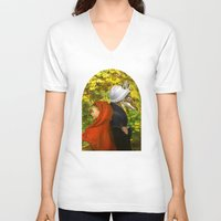 red riding hood V-neck T-shirts featuring Red Riding Hood by Diogo Verissimo