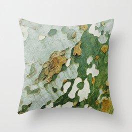 Green Bark Throw Pillow