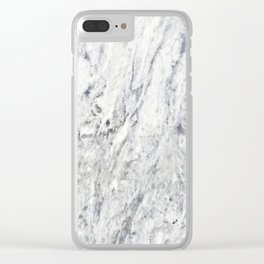 Vintage rustic gray white elegant marble Clear iPhone Case