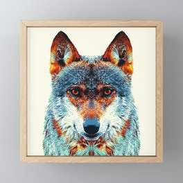 Wolf - Colorful Animals Framed Mini Art Print