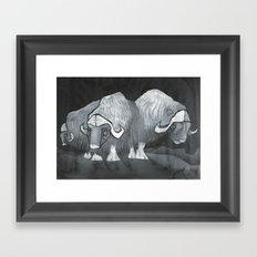 Muskoxen (third shift) Framed Art Print